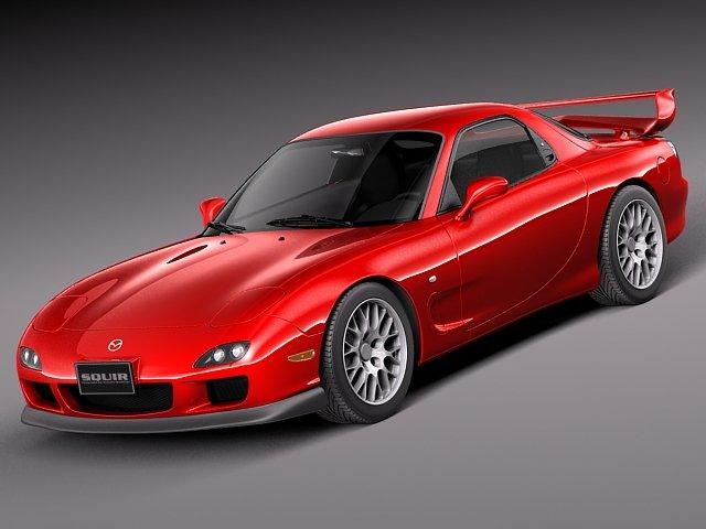 Mazda RX7 1998  2002 3D Model