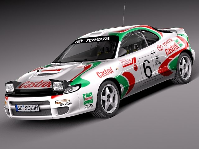 Toyota Celica WRC Carlos Sainz 1991 3D Model