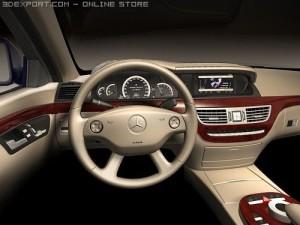 Mercedes S class dashboard