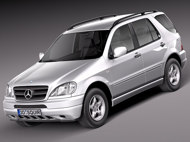 Mercedes Mclass W163 1997 to 2005 3D Model