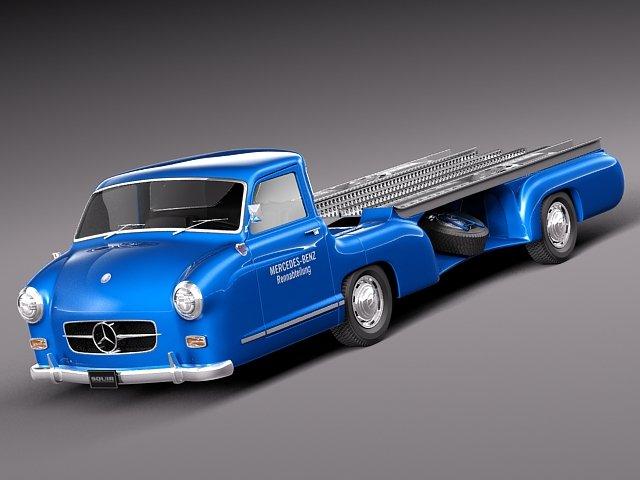 Mercedes Renntransporter 1954 3D Model
