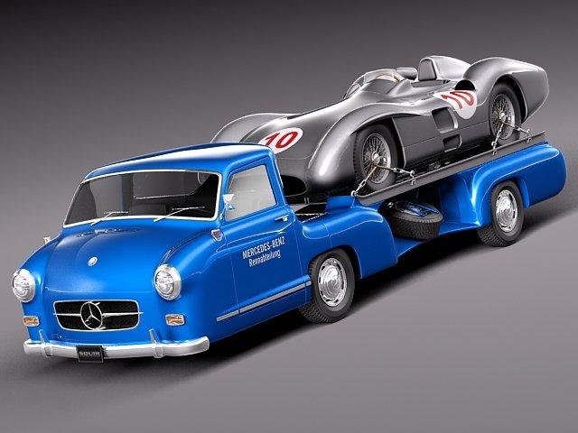 Mercedes  Renntransporter Combo 1954 3D Model