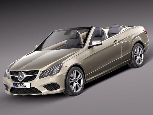 MercedesBenz Eclass Cabriolet 2014 3D Model