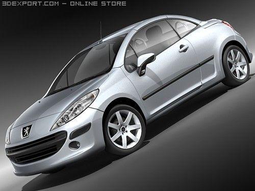Peugeot 207 CC 3D Model