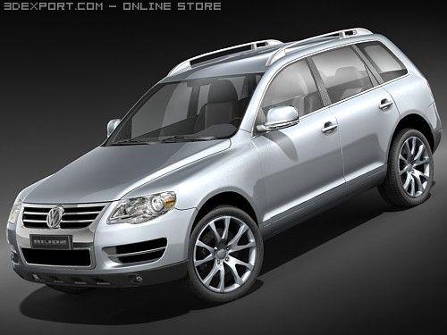 Volkswagen Touareg2008 midpoly 3D Model