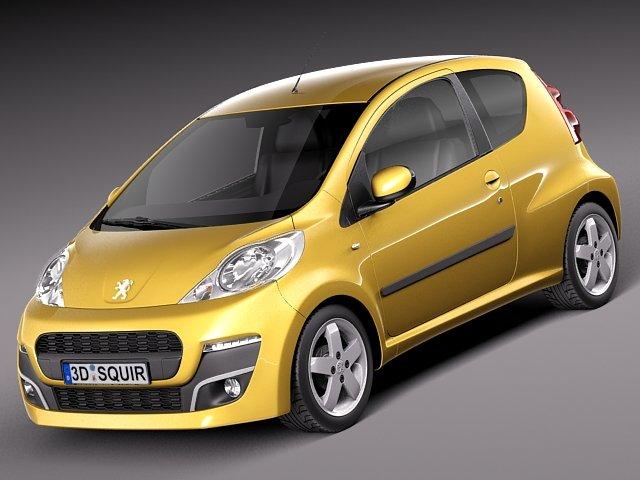 Peugeot 107 3doors 2013 3D Model