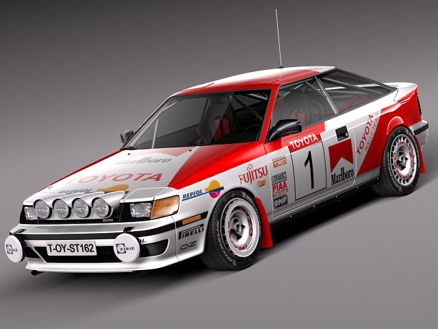 Toyota Celica 1985 to 1989 st165 RALLY 3D Model