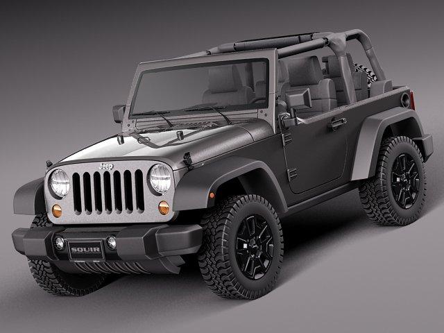 Jeep Wrangler Willis Wheeler 2014 3D Model