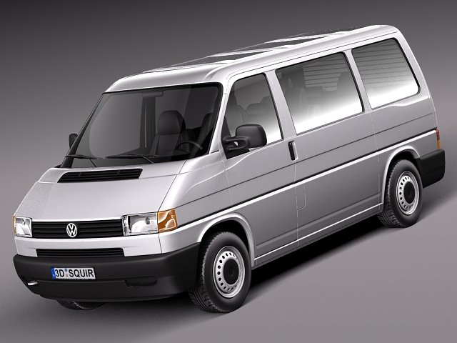 Volkswagen T4 Multivan Eurovan 1990 to 2003 3D Model
