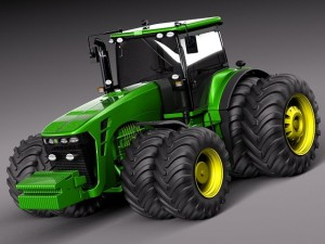 John Deere 8530 tractor twin wheels