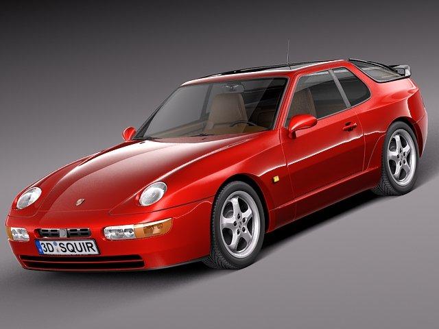 Porsche 968 1991 to 1995 3D Model