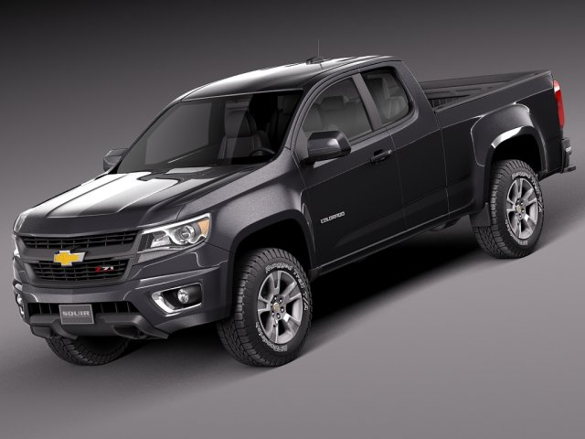 Chevrolet Colorado ShortCab 2015 3D Model