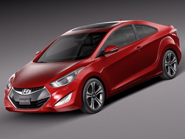 Hyundai Elantra Coupe 2014 3D Model