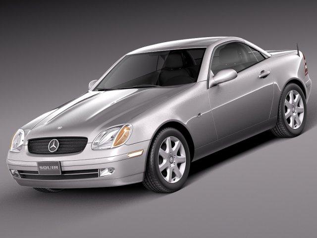 Mercedes SLK R170 1996 to 2004 3D Model
