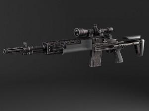 M14 EBR sniper rifle