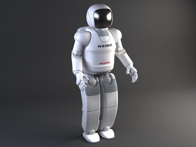 Honda Asimo Robot Rigged 3D Model