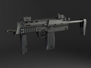 MP7A1 submachine gun