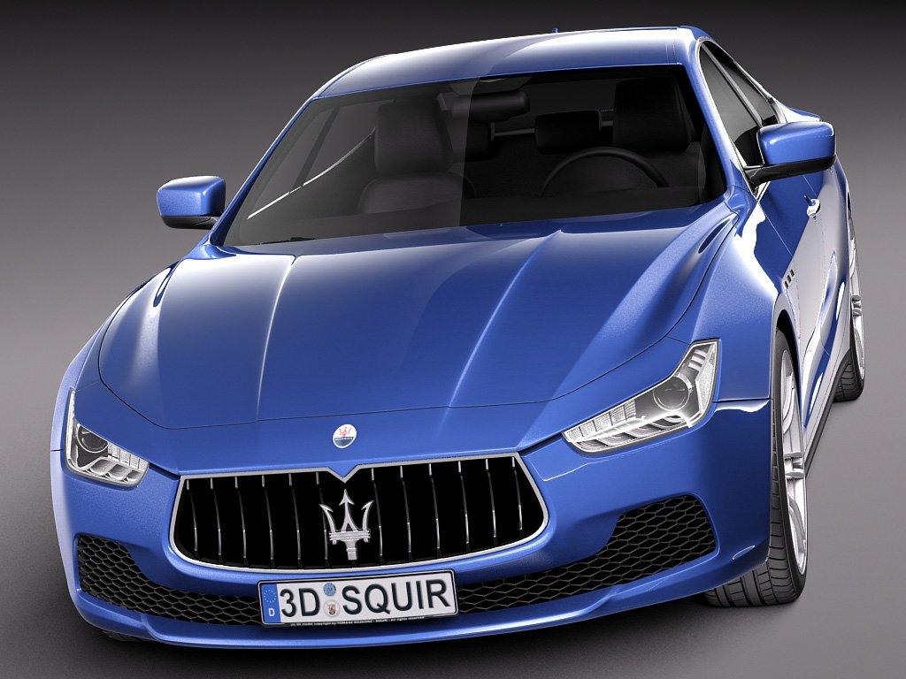 Maserati Ghibli 2014 3D Model in Sedan 3DExport