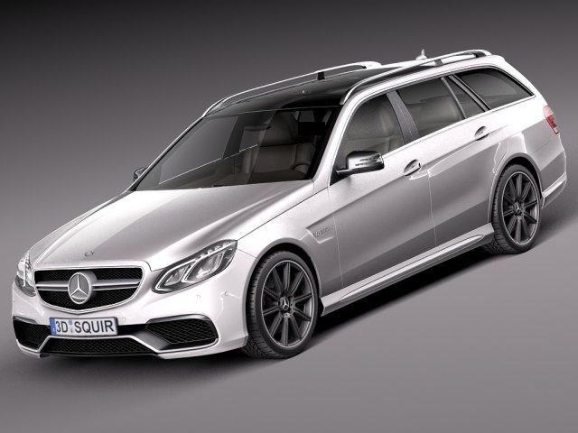 Mercedes Benz E63 AMG Estate 2014 3D Model