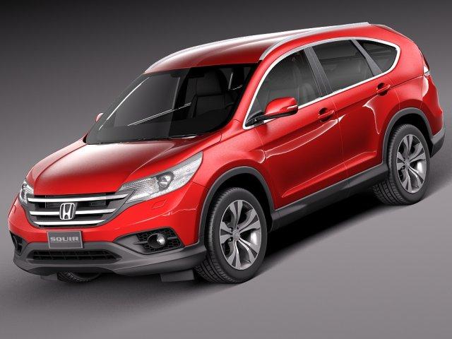 Honda CRV 2014 Euro 3D Model