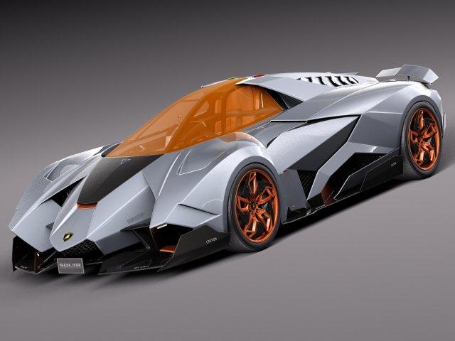 Lamborghini Egoista Concept 2013 3d Model In Concept 3dexport