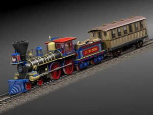 Jupiter Steam Train 1868