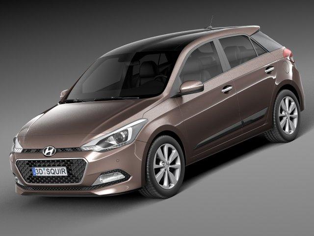 Hyundai i20 2015 3D Model