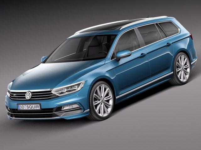 Volkswagen Passat Variant R line 2015 3D Model