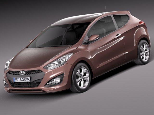 Hyundai i30 3door 2013 3D Model