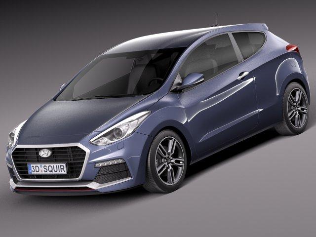 Hyundai i30 Turbo 3door 2015 3D Model
