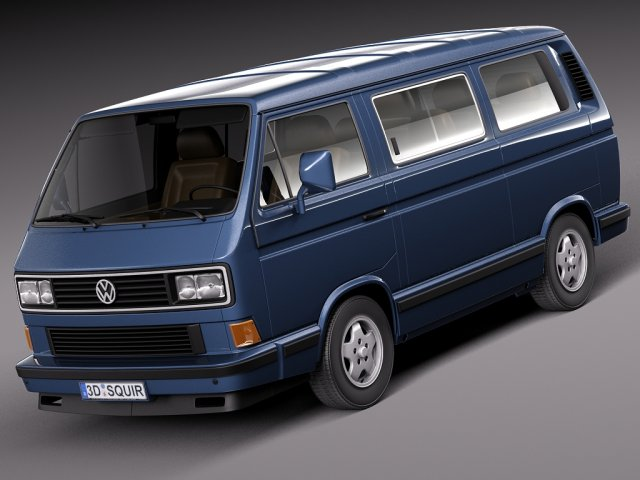 Volkswagen T3 Limited Last Edition 2002 3D Model
