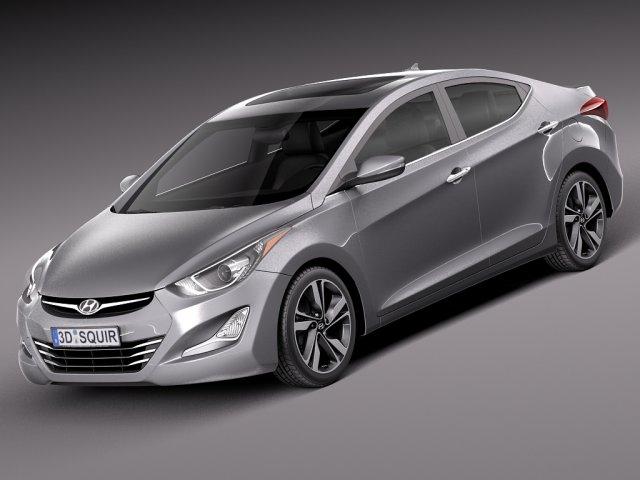 Hyundai Elantra Sedan 2014 3D Model