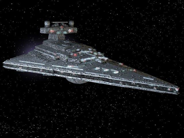 StarWars Star Destroyer with lights 3D Model in Fantasy Spacecraft 3DExport