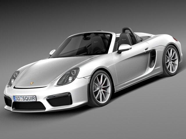 Porsche Boxster Spyder 2016 3D Model