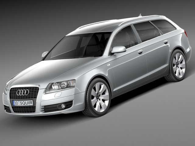 Audi A6 C6 Avant 2005-2008 3D Model