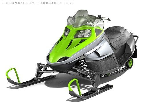 Snowmobile Arctic Cat F570 3D Model