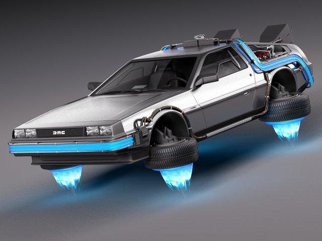 Back To The Future Delorean Episode 2 Future 3D Model