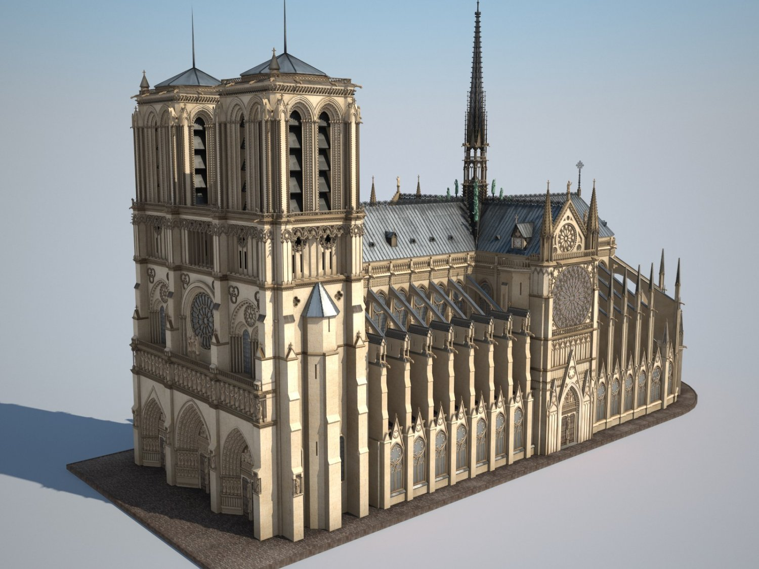 Notre Dame Cathedral 3d model