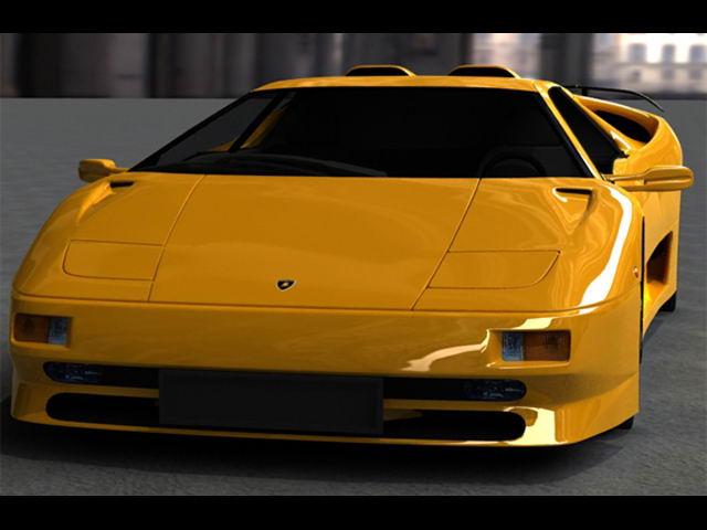 Lamborghini Diablo Sv 3d Model In Sport Cars 3dexport