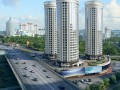 City detailed 3d scene