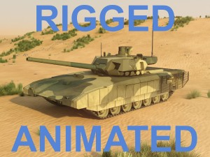 T-14 Armata Rigged and animated