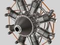 Animated Radial Engine