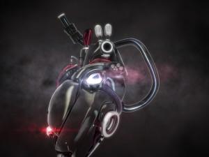 Cyber heart concept