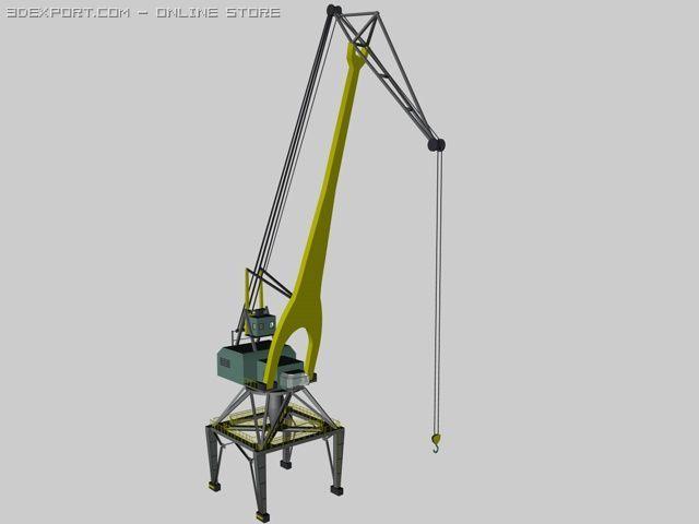 Dockside crane 3D Model in Parts 3DExport