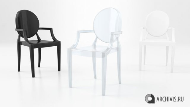 Louis XIV Ghost Chair Free 3D Model in Chair 3DExport