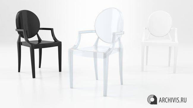 louis tree kartell black cafe house chair ghost