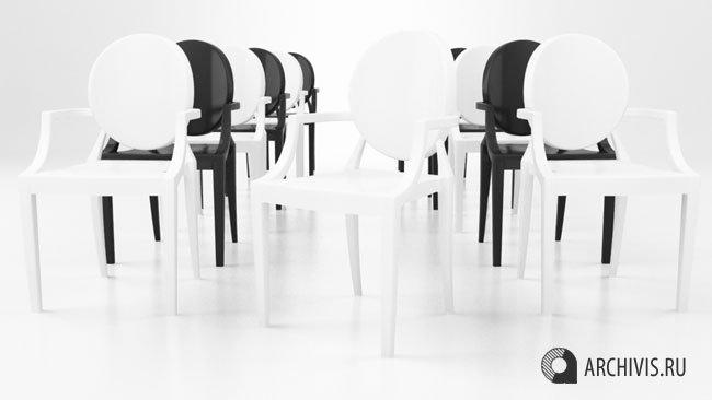 Louis XIV Ghost Chair Free 3D Model in Chair 3DExport