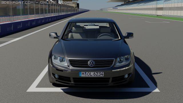 VW Phaeton 3D Model