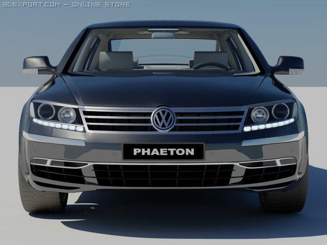 VW Phaeton 2011 3D Model