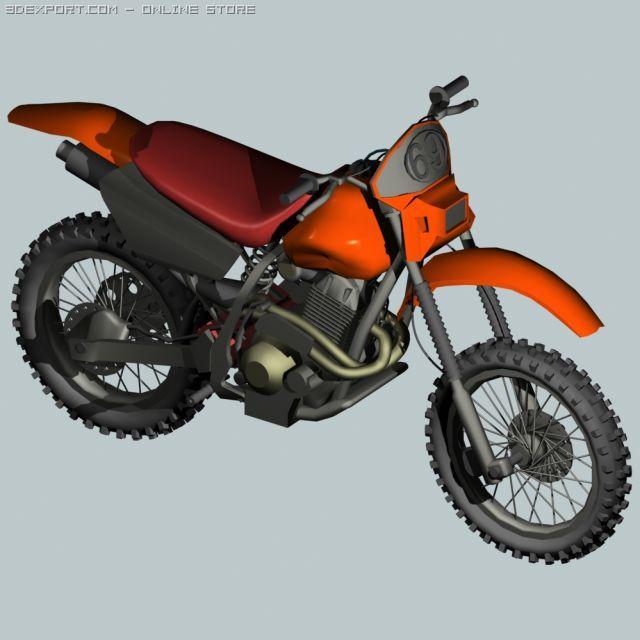 Dirt Bike Free 3d Model In Motorcycle 3dexport